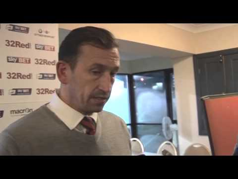 Justin Edinburgh post match iv Portsmouth (H) JPT 12Nov13