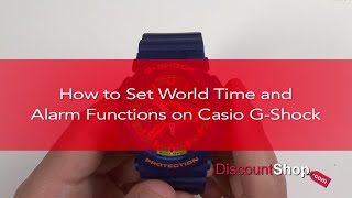 [HOW TO- Set World Time & Alarms on Casio G-Shock Watches] Video