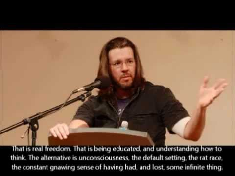 david foster wallace kenyon college commencement speech The wall street journal has printed the speech david foster wallace gave at kenyon college's commencement in 2005 widely circulated in a transcribed form, this version has cleared up previously garbled portions of his address.