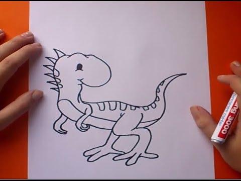 Como dibujar un dinosaurio paso a paso 7 | How to draw a dinosaur 7