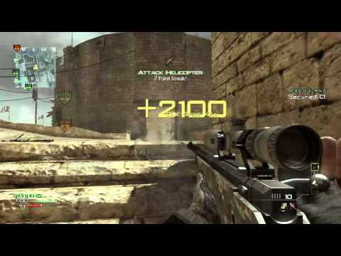 MW3 epic 8 man sniper kill feed 100% accurate - i O u A SNIPE - MW3 Game Clip