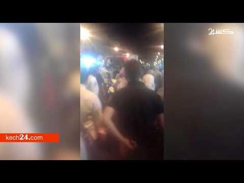 شاهد حادث الدهس الذي أرسل مواطنين للمستعجلات بمراكش