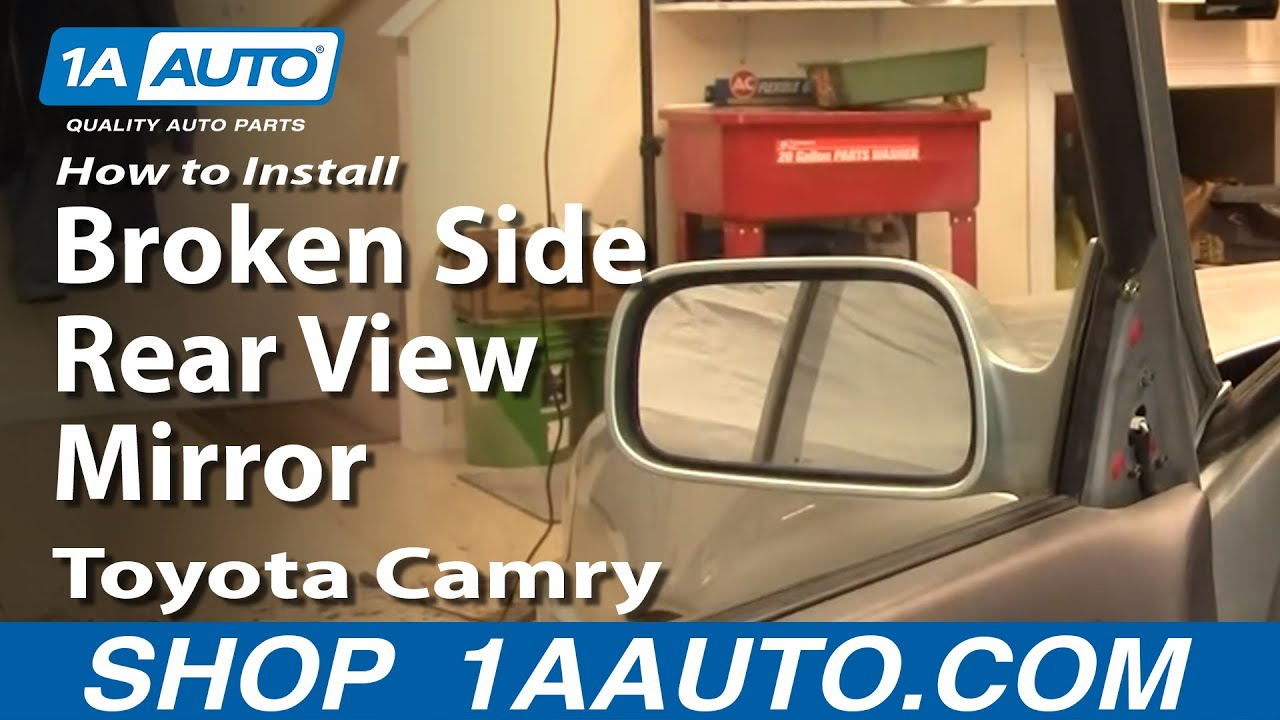 how to install replace broken side rear view mirror toyota autos post. Black Bedroom Furniture Sets. Home Design Ideas