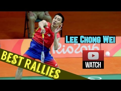Lee Chong Wei Best Rallies of 2016 - Crazy Skills - 李宗伟厉害的打球法