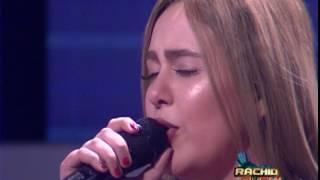 بالفيديو خولة بنعمران تغني باللغة الإسبانية في بلاطو رشيد شو  