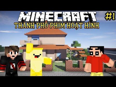 Oops Club Minecraft Thành Phố Phim Hoạt Hình - Tập 1: THAM QUAN NHÀ SHIN CẬU BÉ BÚT CHÌ