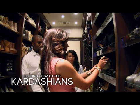 Kanye Raids Kim's Closet | Keeping Up With the Kardashians | E!