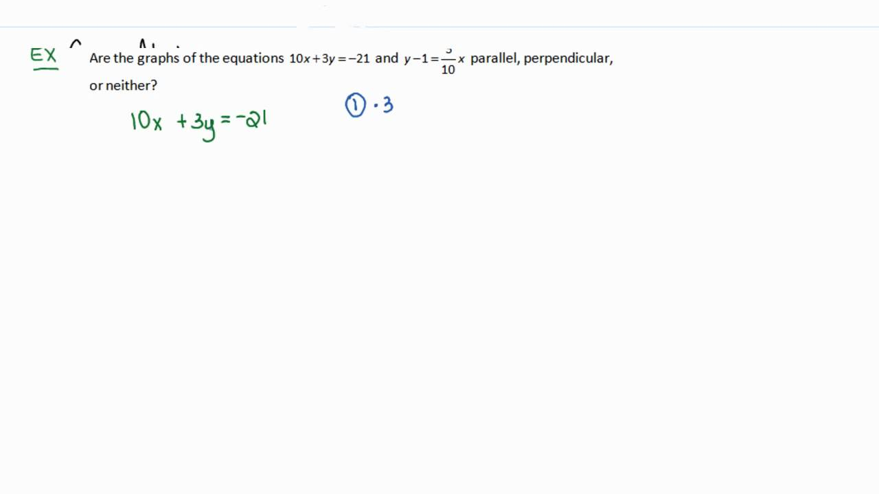 how to find perpendicular equation