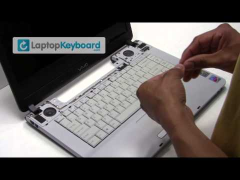 Sony Vaio VGN-FS Laptop Keyboard Installation Replacement Guide - Remove Replace Install