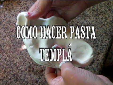 DIY PASTA FLEXIBLE PARA MODELAR,SECADO AL AIRE, PASTA TEMPLÁ  MANUALIDADES