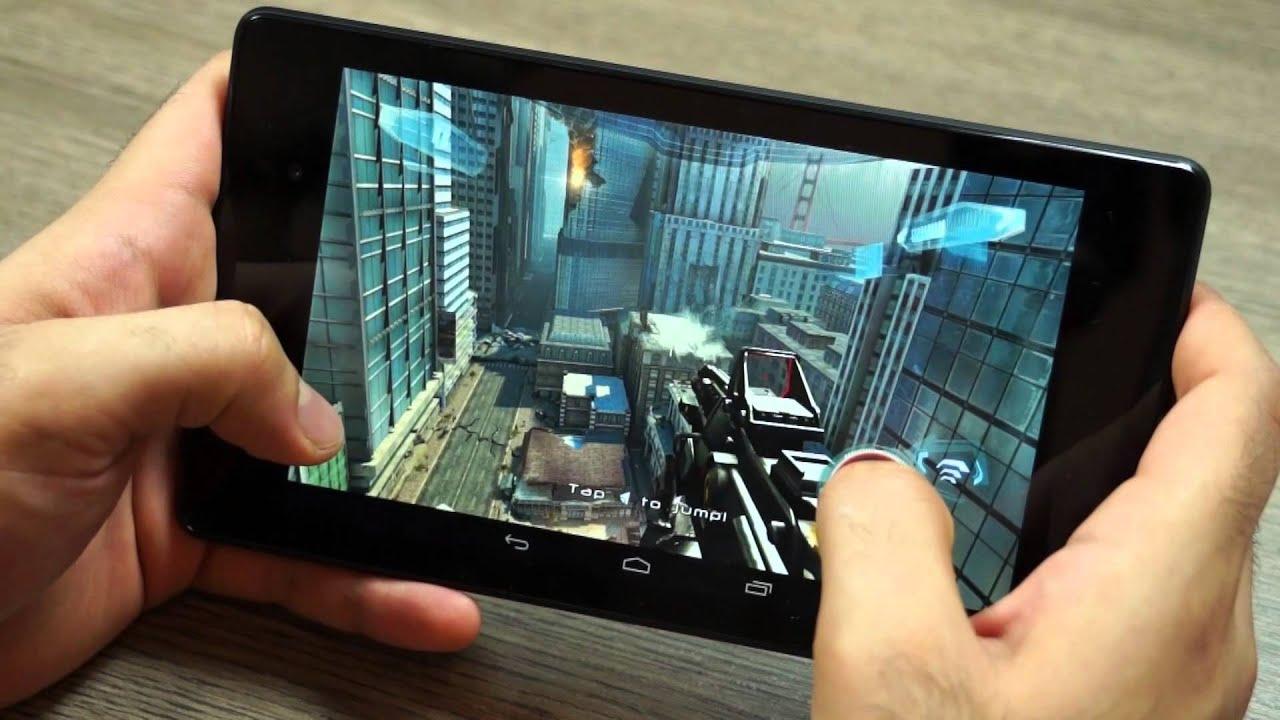 Chơi game 3D với nexus 7 2013