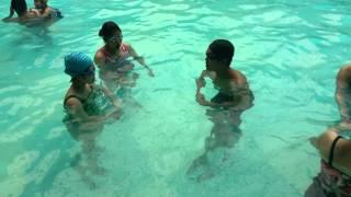 Bơi Ếch - Bài tập thở làm quen với nước