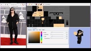 Minecraft Skin Dj Skrillex YouTube - Skins para minecraft pe de skrillex