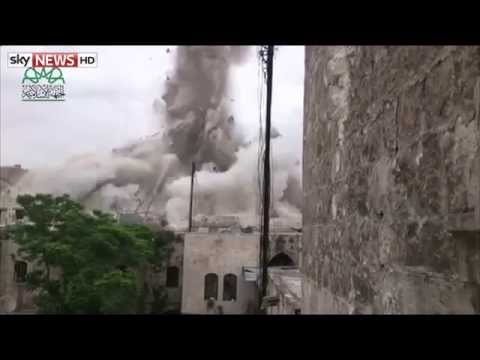 Syria Conflict [RAW]: Huge Blast 'Destroys Aleppo Hotel' Killed 14 Pro-Syria Regime Fighters