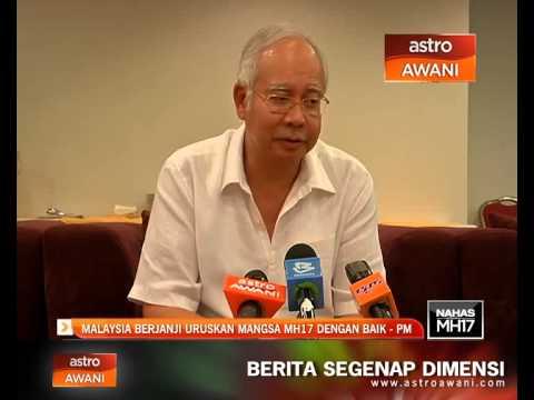 Malaysia berjanji uruskan mangsa MH17 dengan baik - PM