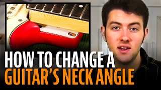Watch the Trade Secrets Video, Change the angle of a neck with StewMac Neck Shims