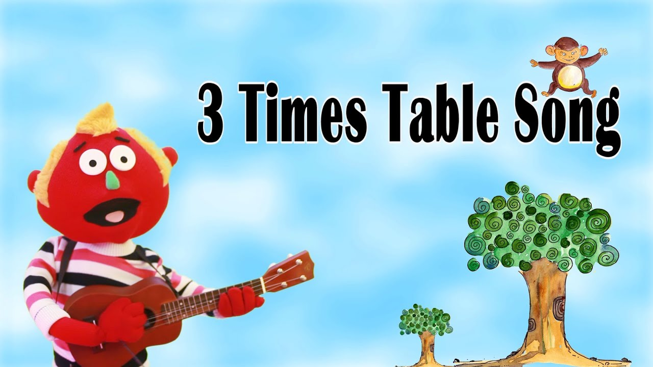 3 times table song youtube for 12 times table song