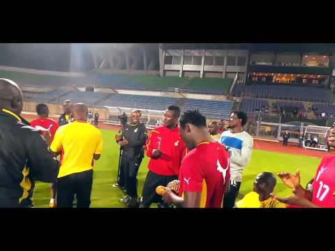 Ghana Black Stars Players Singing And Dancing Before Their Game Against Egypt In Cairo (Jama) - 2013