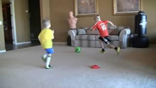 6-7 Football/soccer Kid With Skills Of Messi/Ronaldo
