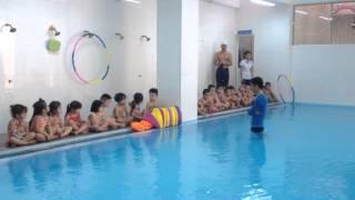 01 Bơi lội cùng các bé Mầm non Trường Đức Trí