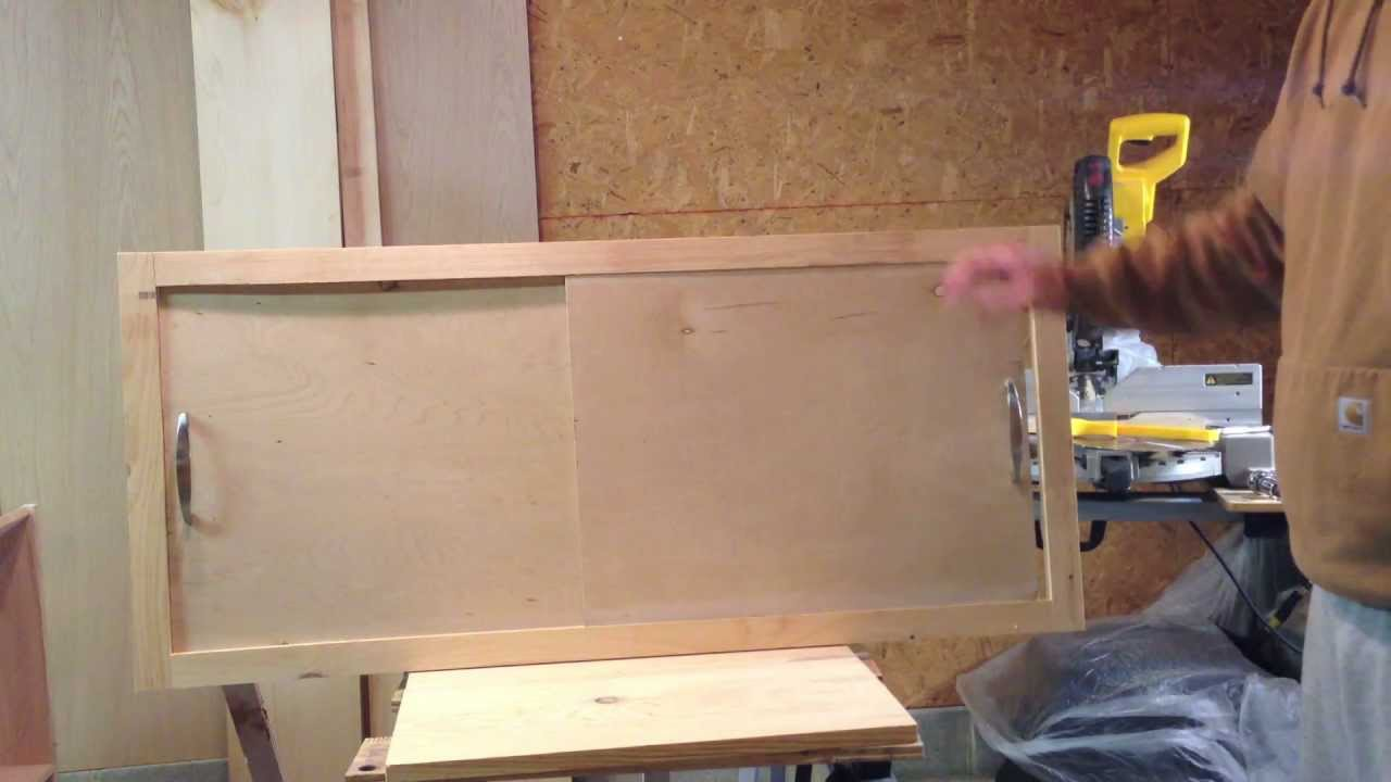 How To Make A Sliding Cabinet Faceplate And Door Youtube