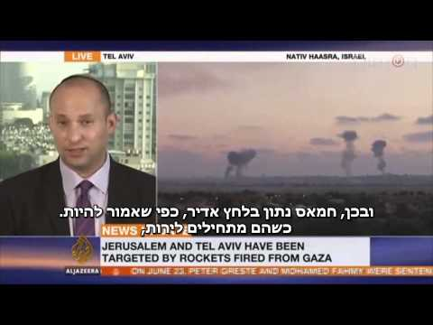 Bennett on Al Jazeera: Hamas is responsible for the deaths of its citizens
