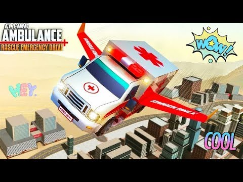 Flying Ambulance Rescue Emergency Drive | Gameplay kids fun | Kids Video | Hannu Games