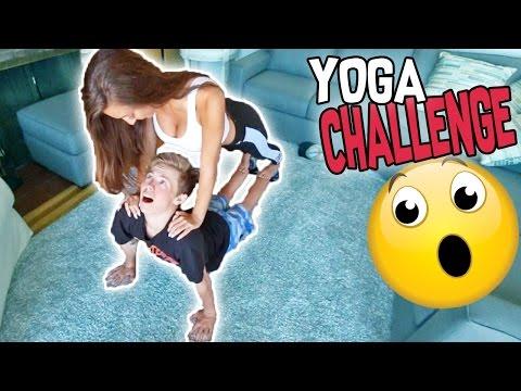 CRAZY YOGA CHALLENGE WITH MY GIRLFRIEND!