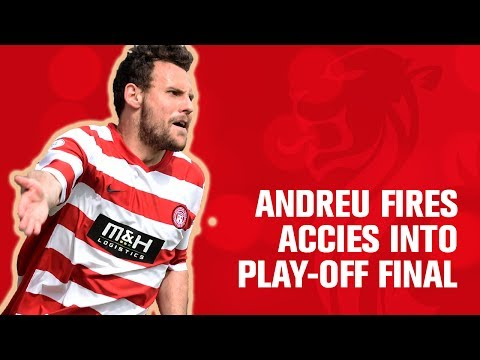 Andreu fires Accies into play-off final