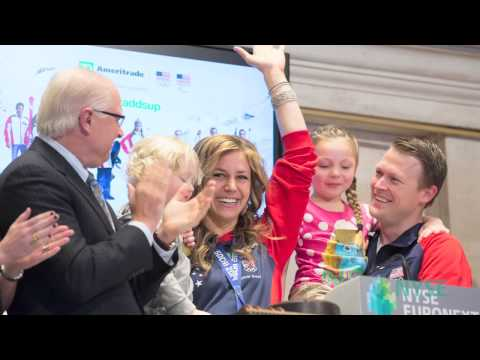 U.S. Olympic Silver Medalist Noelle Pikus Pace and Corporate Sponsor TD Ameritrade at NYSE