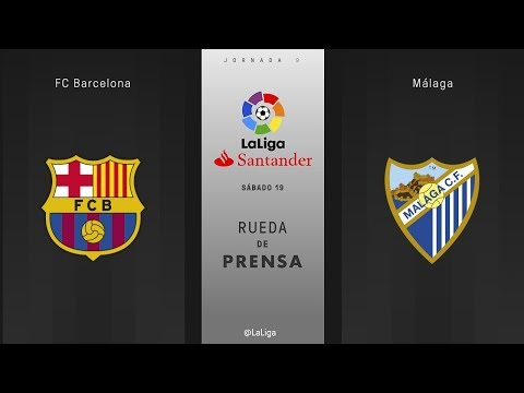 Rueda de prensa FC Barcelona vs Málaga