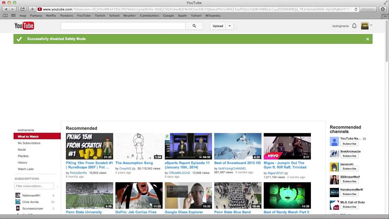 How To Turn Off Safety Mode On Youtube 2014 Youtube
