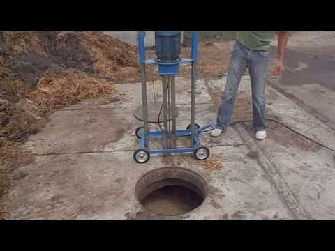 Mieszadło podrusztowe do gnojowicy