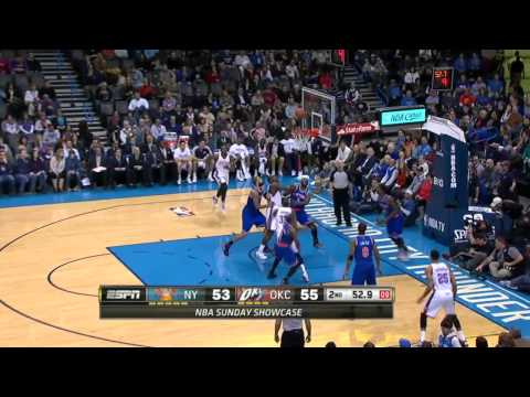 New York Knicks vs Oklahoma City Thunder | February 9, 2014 | NBA 2013-14 Season