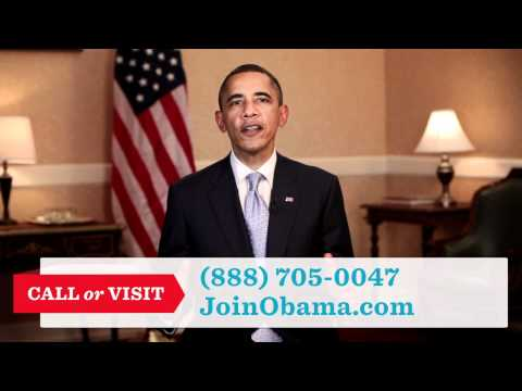 First Obama 2012 Ads - JoinObama.com: A Movement Starts With You, call (888) 705-0047