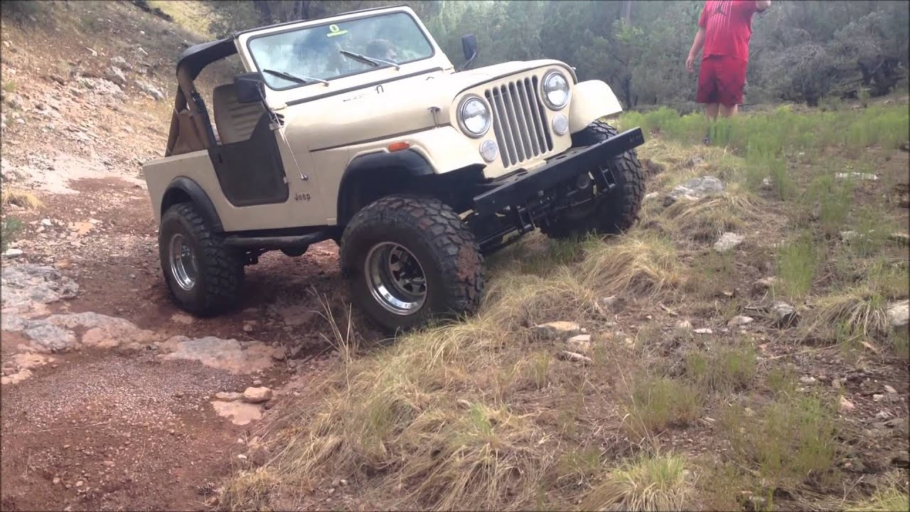 Lifted 1985 Jeep Cj7 Trail Riding Youtube