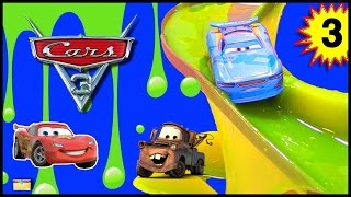 CARS 3 Movie Toys SLIME RACE GAME w/ Lightning McQueen FIND MATER Surprise Toys with Disney Cars
