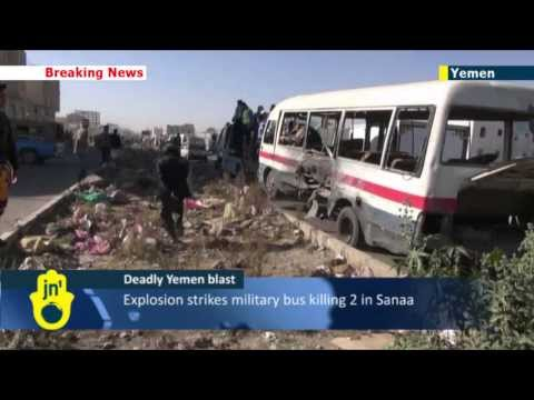 Yemen blast: Explosion strikes military bus killing 2 in Sanaa