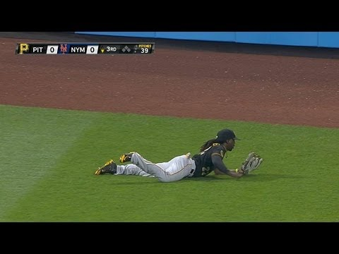 McCutchen lays out to rob Lagares of a hit