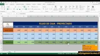 Flujo de Caja Proyectado en Excel