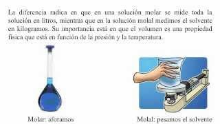 Diferencia entre molaridad y molalidad