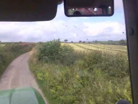 carting silage with a john deere team