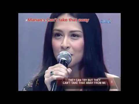 Marian Rivera's songs collection - Can't Take That Away