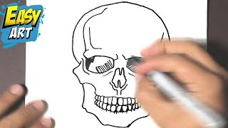 How To Draw A Skull Halloween How To Draw A Skull Como
