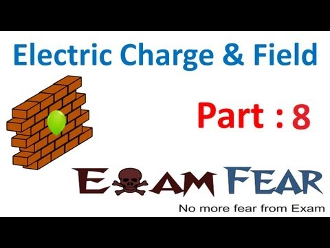 Physics Electric Charges & Fields part 8 (Coulomb law) CBSE class 12