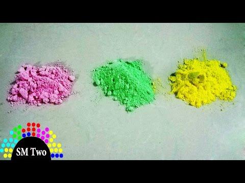 Cách làm bột màu để chọi nhau cực vui Make Color Powder пигменты 顔料 颜料