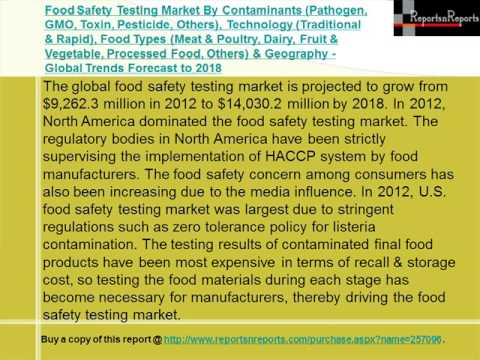 Global Food Safety Testing Market Forecast to 2018