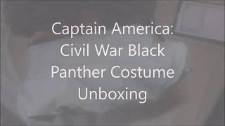 Black Panther Costume Unboxing