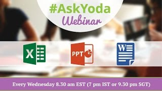 #AskYoda Webinar on MS Office Queries- YodaLearning