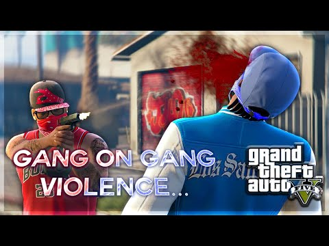 GANG ON GANG VIOLENCE IN GTA 5 (FUNNY MOMENTS)
